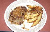 Gemakkelijk Salsbury biefstuk of de hamburger met toespelingen van grandeur