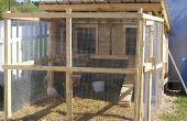 Coop - verwarmde duivin Coop - kip huis Bouwtekening kip