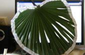 Maken van een Chinese stijl blad fan (rush-leaf fan)