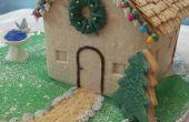 Cookie huis met kerstverlichting
