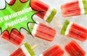 DIY zomer watermeloen ijslollys