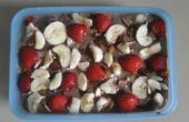 Chocolade vla fruit pudding