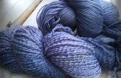 Natuurlijke kleurstof - bramen - op wol garen
