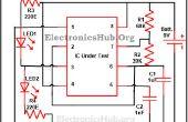 555 timer IC testen Circuit