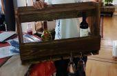 Wijn Rack met behulp van teruggewonnen hout