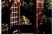 Hoe het bouwen van een tuin Trellis met zitbank