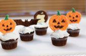 Halloween pompoen Chocolade Cupcake Toppers