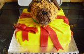 Hond in huidige taart