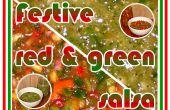 Feestelijk rood en groen Salsas
