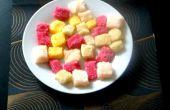 Regenboog suikerklontjes smaak