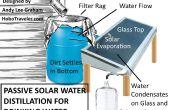 Distillatie van de zonneboiler gebruik van regenwater