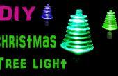 Roterende kerstboom licht met behulp van LED's en speelgoed Motor maken