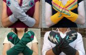 How to make superheld Arm Warmers uit een oud T-shirt