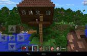 Minecraft treehouse voor een gezin leven in