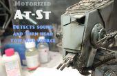 Gemotoriseerd, geluid reageren Star Wars At-St Bandai Model, met Arduino.