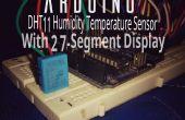 Arduino temperatuur en vochtigheid scherm met 7-Segment Display