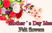 DIY cadeau ideeën Moederdag, hoe maak je vilt bloemen, roos, lelie, anjers en amandel blosoms