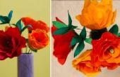 DIY ambachten: Hoe maak je Crepe papier Rose Flower