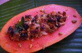 Maleisische gebakken Papaya met gember