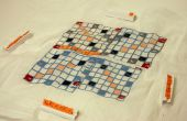 CNC borduurwerk: Stof Scrabble-achtige Board