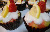 Raspberry Lemon Poke Cupcakes