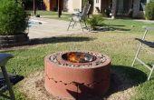 $50 vuurplaats met concrete boom ringen