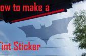 Hoe Maak auto windows tint stickers!