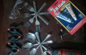 Hoe maak je een vork-lepel gebruiksvoorwerp voor camping