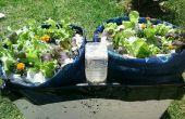 Het eenvoudigste zelf water container tuin voor groenten of zelfs bomen