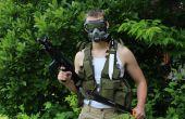 Zelfgemaakte M40 gasmasker die werkt, met behulp van reserveonderdelen