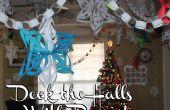 Deck the Halls met papier! 3D sneeuwvlokken, papier kettingen, adventkalender en meer!