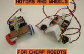 Motoren en wielen voor goedkope Robots