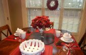 Last Minute Christmas ontbijttafel & rood Decor