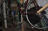 Bamboe fiets stand en fender