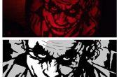 Dark Knight pompoen met gratis stencil patroon