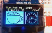 DS3231 OLED wekker met 2-knops menu-instelling en temperatuurdisplay