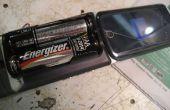 AA batterij aangedreven mobiele telefoon
