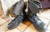 Oude militaire laarzen omzetten in pirate laarzen!