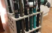 Fishing Rod Rack - Compact en Freestanding - gemaakt met CNC Router