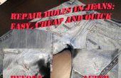 Gaten in Jeans: gemakkelijk en goedkoop Fix