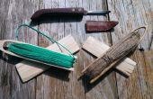 Primitieve Net maken uit uw naald te weven van uw Net Carving