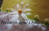 Het maken van de punt lace-daisy - igne oyasi papatya yapimi