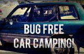 Bug-vrij auto camping: venster dekking.