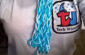 Een vinger-Knit sjaal