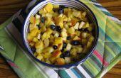 Pakistaanse fruit Chaat (salade) met Chaat masala (recept opgenomen)