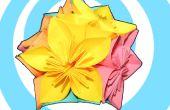 Origami Kusudama bloem + bal