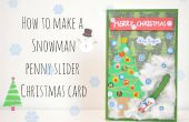 Hoe maak je een sneeuwpop cent schuifregelaar kerstkaart