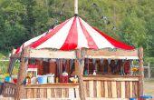 DIY spel Booth voor Circus thema bruiloft of feest!