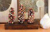 Vakantiewoningen DIY: Pinecone bomen met Gevilte wol
