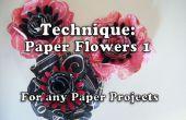 Hoe maak je papier bloemen (Stijl1 voor Project 161)